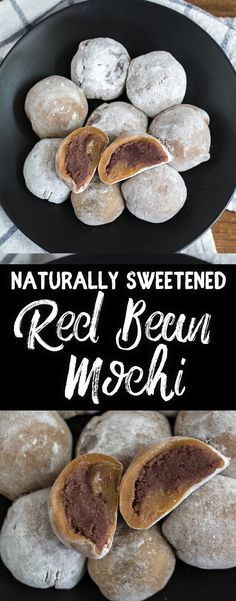 Naturally-Sweetened Red Bean Mochi (Daifuku) {oil-free} sweetsimplevegan vegan refinedsugarfree lowfat datesweetened healthy mochi daifuku