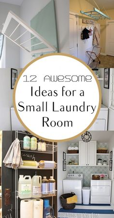 12 Awesome Ideas for a Small Laundry Room. #HomeTips #smallspace #DIY