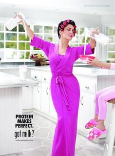Got Milk Ads, Salma Hayek Images, Pink Dressing Gown, Growing A Mustache, Selma Hayek, Milk Protein, Glamour, Celebs, Celebrities