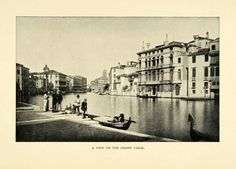 View on the Grand Canal (Venice, Italy) around 1901