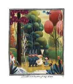 Estas son las ilustraciones para el Mago de Oz, el último libro que he hecho, para el Círculo de Lect...