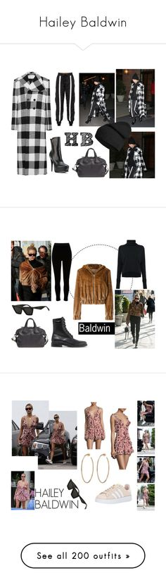 """Hailey Baldwin"" by ourkidrauhl ❤ liked on Polyvore featuring Baldwin, Marques'Almeida, Danielle Guizio, Givenchy, Yves Saint Laurent, Off-White, Helmut Lang, River Island, ISABEL BENENATO and adidas Originals"
