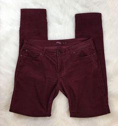 PrAna Women's Maroon Stretch Corduroy Skinny Pants/Jeans Size 12  | eBay