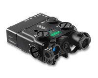 Steiner 9008 DBAL-A3 Civilian Dual Beam Visible Green/IR Aiming Laser w/ IR Illuminator - Black