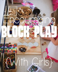 Do your children play with blocks? Block play has many benefits for children. Here are some fabulous tips for encouraging block play in your home or classroom. Play Based Learning, Kids Learning Activities, Learning Centers, Early Learning, Motor Activities, Block Center Preschool, Kids Play Spaces, Block Area, Dramatic Play Area