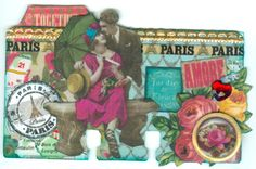 """* """"Summer Amore"""" Altered Rolodex Card"""