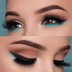The Smokey Eye Make-up is perfect for the shape of your eyes . - Make-up - # . , The Smokey Eye Make-up is perfect for the shape of your eyes . - Make-up - Makeup Eye Looks, Smokey Eye Makeup, Cute Makeup, Eyeshadow Makeup, Gorgeous Makeup, Blue Eyeliner, Makeup Brushes, Perfect Makeup, Makeup Remover