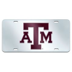 NCAA Acrylic Inlaid License Plate Frame Texas A&m University