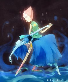 flafly: Lapis dances so good! I really want to see her dance with Pearl because their dance moves will be in perfect harmony. What an extraordinary scene it will be… ☆o☆ Also, if they fuse together, remember where pearls come from? Yes the ocean! So I totally believe they are just perfect for each other.