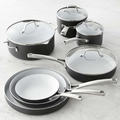 Calphalon Classic Ceramic Nonstick 11-Piece Cookware Set | Williams-Sonoma                                                                                                                                                                                 More