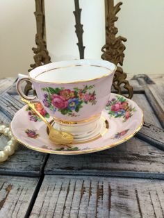 A personal favourite from my Etsy shop https://www.etsy.com/uk/listing/250102369/colclough-1940s-classic-pink-teacup-and