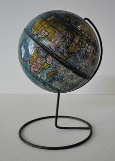 untitled. [Child's table globe]. British Empire in Pink on Miniature Desk Globe, Cartographer: English? (Published: c1925. English)