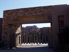 Custom Gates by Giovanni Designs on Private Estate in Sedona. www.giovannidesigns.info