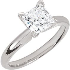As is or reset in a different mounting this 1 carat princess is sure to sparkle.