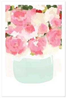 art prints - Peonies in vase by kelli hall