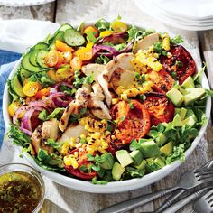 Grilled Chicken and Vegetable Summer Salad - Our Favorite Recipes of 2015 - Coastal Living