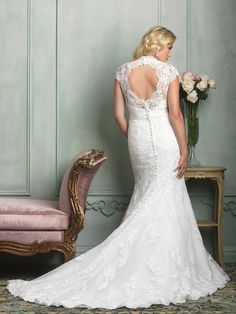 Allure Bridals : Women Collection : Style W330 : Available colours : White/Silver, Ivory/Silver (back)