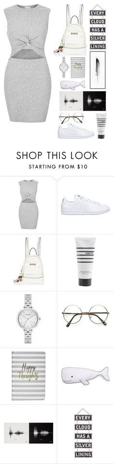 """""""White sneakers :)"""" by holly-k15 ❤ liked on Polyvore featuring River Island, adidas, Pirette, Kate Spade, ZeroUV, Boohoo, Thro, Silver Lining and Kim Salmela"""