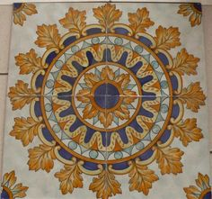 Painting Decorative Tiles Hand Painted Tile Fountains  Mediterranean  Outdoor Fountains
