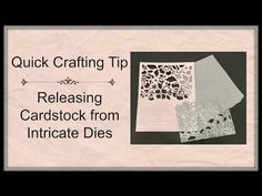 Quick Crafting Tip - Releasing Cardstock From Intricate Dies  - Stampin' Up!, card, paper, craft, scrapbook, rubber stamp, hobby, how to, DIY, handmade, Live with Lisa, Lisa's Stamp Studio, Lisa Curcio, http://www.lisasstampstudio.com