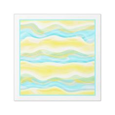 Bright Artistic Abstract Retro Cool Wave Pattern Paper Dinner Napkin - blue gifts style giftidea diy cyo