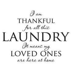 Thankful for the Laundry Wall Quotes™ Decal