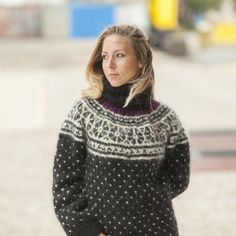 FREE SHIPPING Tiffy Mohair Hand Knitted T- neck Icelandic Sweater Fuzzy Fluffy M L XL Made to order T 454 by TiffysMohair on Etsy