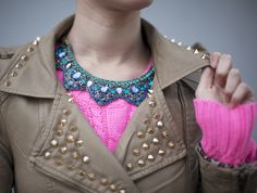 Studs, sweaters, and statement necklaces love love love