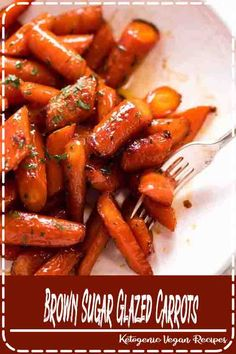 Brown Sugar Glazed Carrots - - Recipe video above. The most amazing quick and easy roasted carrots! Roasting brings out the best in carrots, always. And the caramelised edges are the BEST - it's the only way I make Glazed Carrots! Veggie Side Dishes, Vegetable Sides, Side Dish Recipes, Vegetable Recipes, Food Dishes, Carrot Dishes, Recipes Dinner, Veggie Recipes Sides, Turkey Side Dishes