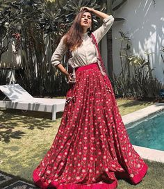 Buy Bollywood Lehenga Choli Online Shopping at Best Price in India Choli Designs, Lehenga Designs, Blouse Designs, Indian Fashion Dresses, Indian Gowns Dresses, Dress Indian Style, Indian Designer Outfits, Fashion Outfits, Red Outfits