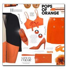 """Dreamsicle: classy orange"" by hotlemon ❤ liked on Polyvore featuring Estée Lauder, Zero + Maria Cornejo, Gucci, Tom Ford, Madewell, Prada, Aesop, Longchamp, Maison Margiela and Cartechini"