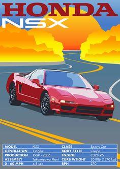 Honda Nsx R, Honda Civic, Classic Japanese Cars, Old Classic Cars, Tuner Cars, Jdm Cars, Cars Auto, Cool Sports Cars, Sport Cars