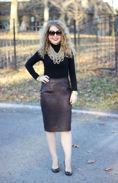 ddd5a4d923 Ann Taylor Faux Leather Pencil Skirt Faux Leather Pencil Skirt, Leather  Skirts, Pencil Skirt