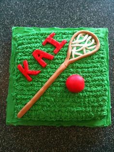 Lacrosse Cake - This was a cake I made for a friend's son (Kai) who loves lacrosse.