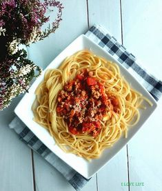 Makarony - I LOVE LIFE Spaghetti, Ethnic Recipes, Food, Essen, Meals, Yemek, Noodle, Eten