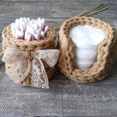 Gifts Babies are attached to the order; Crochet Storage, Crochet Box, Crochet Basket Pattern, Knit Basket, Crochet Motifs, Crochet Gifts, Crochet Stitches, Knit Crochet, Crochet Patterns