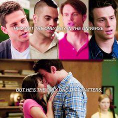 Rachel and Finn. Glee Rachel And Finn, Finn Hudson Glee, Finn Glee, Lea And Cory, Glee Memes, Glee Quotes, Brittany And Santana, Fox Tv Shows, Glee Cory Monteith