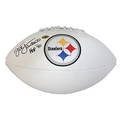 Jack Lambert Autographed Pittsburgh Steelers White Panel Football  HOF 90  Certified Authentic *** Details can be found by clicking on the image.
