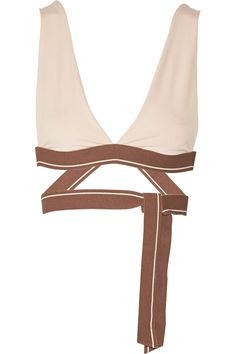 OLYMPIA ACTIVEWEAR Knot stretch-jersey sports bra. #olympiaactivewear #cloth #