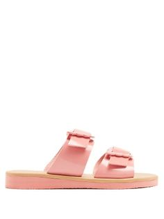 Ancient Greek Sandals Iaso Leather Sandals In Pink Leather Sandals, Patent Leather, Brown Leather, Shoes Sandals, Ancient Greek Sandals, Bubblegum Pink, Cropped Jeans, Feminine, My Style