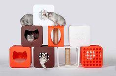 Muebles para gatos vía decoratrix.com