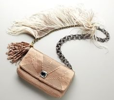 Lanvin Feathered Ouloulette Bag