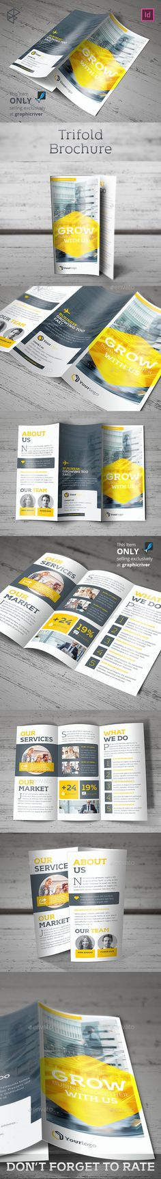 Trifold Brochure Template Brochure Template Brochures And Twins