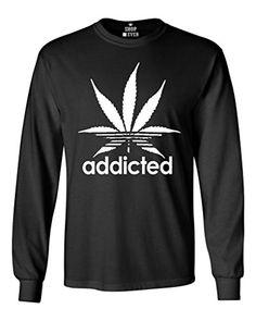 Shop4Ever® Addicted Long Sleeve Shirt Weed Smoker Shirts //Price: $12.5 & FREE Shipping //     #hashtag3