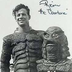 Swimmer Ricou Browning who played The Creature under water in all three films.