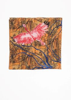 & Other Stories | Scarlet Ibis Print Silk Scarf