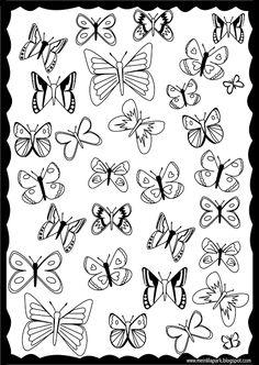 Free printable butterfly coloring page - ausdruckbare Ausmalseite - freebie | MeinLilaPark