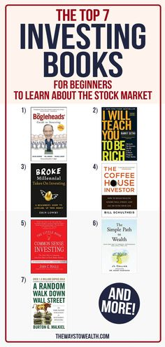 Looking to build wealth through stock market investing? Here's one financial planner's take on the best stock market/investing books for beginners — from learning the basics to gaining that first million. #Money #PersonalFinance #Investing #GetRich #Wealth Investing Money, Investing In Stocks, Value Investing, Stock Market Books, Learn Stock Market, Financial Tips, Financial Planner, Financial Literacy, Stock Market Investing
