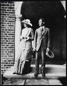 Leonard and Virginia on their wedding day, August 19, 1912.  Today is their 102nd wedding anniversary.