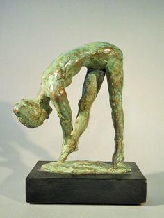 Ginnasta bronzo mis:17x15x6